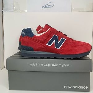 New Balance 574 Made in USA Red Blue